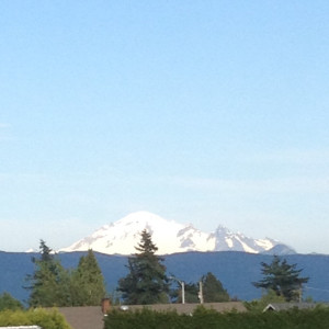 Our backdrop scenery was a gorgeous Mt. Baker