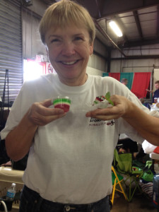 Jello shooters appeared on Saturday to help get us through the day