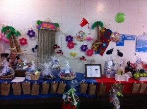 The raffle table looked great